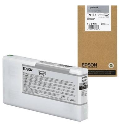EPSON - EPSON T9137 LIGHT BLACK (Açık Siyah) ORJİNAL KARTUŞ Surecolor SC-P5000 / SC-P7000