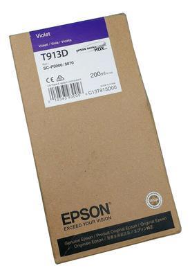 EPSON - EPSON T913D VIOLET ORJİNAL KARTUŞ Surecolor SC-P5000 / SC-P7000