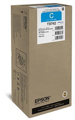 EPSON - Epson T9742 XXL Mavi Orjinal Kartuş 735,2 ml WF-C860 Serisi 84,000 Sayfa