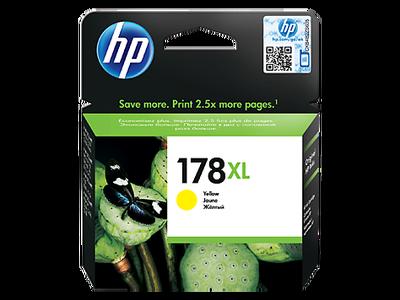 HP - HP 178XL CB325HE Sarı Orjinal Kartuş Photosmart 5510 / 5515 / D5463