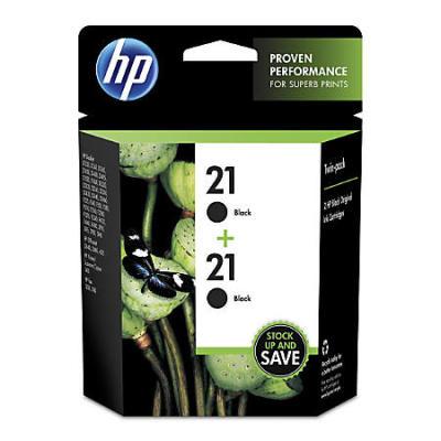 HP - HP 21 C9508 2'li Paket Siyah Orijinal Mürekkep Kartuş