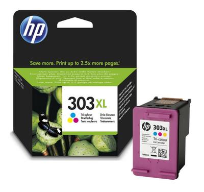 HP - HP 303XL T6N03AE Renkli Orjinal Kartuş Yüksek Kapasite Envy Photo 6220, 6230, 7130, 7134, 7830