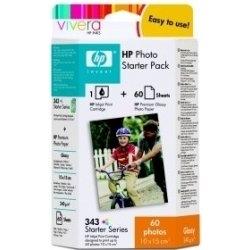 HP - HP 343 Q7948E FOTOĞRAF PAKETİ-KARTUŞ ve 100 FOTOĞAF KAĞIDI
