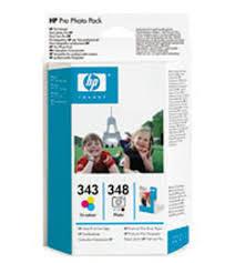 HP - HP 343+348 Q7875EE Fotoğraf Paketi-Kartuş+ 120 Adet Fotoğraf Kağıdı