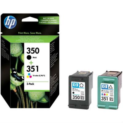 HP - HP 350 / 351 SD412EE SİYAH + RENKLİ ORJİNAL KARTUŞ Ekonomik Paket