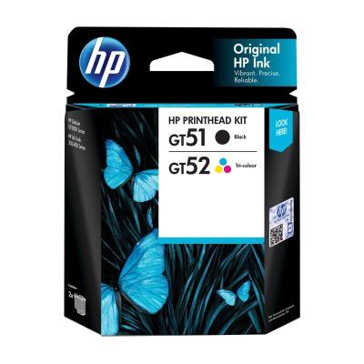 HP - HP 3JB06AA GT51 / GT52 Siyah+Renkli Baskı Kafası (M0H50A+M0H51A) Deskjet GT5810, GT5820