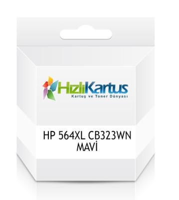 HP - HP 564XL CB323WN MAVİ MUADİL KARTUŞ DeskJet 3070A, OfficeJet 4610 / 4620