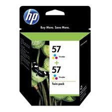 HP - HP 57 C9503AE 2Lİ PAKET ORJİNAL KARTUŞ