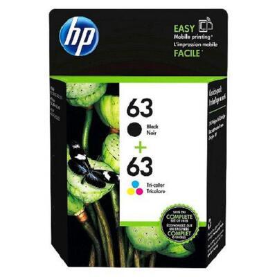 HP - HP 63 + 63 L0R46A Siyah Renkli İkili Paket Orjinal Kartuş - DeskJet 1110