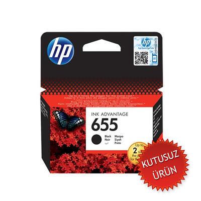 HP - HP 655 CZ109AE Siyah Orjinal Kartuş (U)