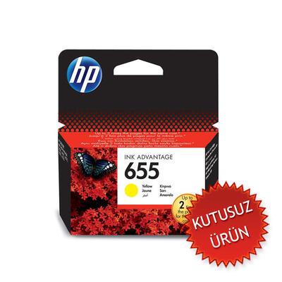 HP - HP 655 CZ112AE Sarı Orjinal Kartuş (U)