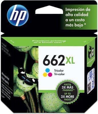 HP - HP 662XL CZ106AB RENKLİ ORJİNAL KARTUŞ Deskjet 3516, 3546, 2546, 2516, 2646