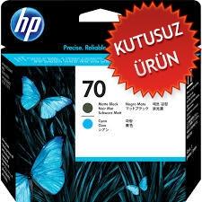 HP - HP 70 C9404A MAT SİYAH-MAVİ KAFA KARTUŞU (U)