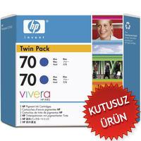 HP - HP 70 CB349A 2Lİ Paket Mavi (Blue) Kartuş (U)