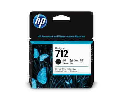 HP - HP 712 3ED71A Yüksek Kapasiteli Siyah Orjinal Kartuş - 5HB12A / 5HB14C