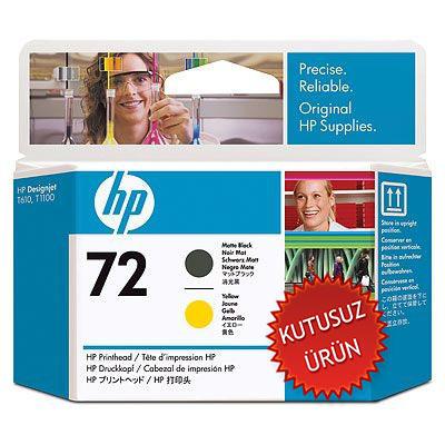 HP - HP 72 C9384A SARI-SİYAH KAFA KARTUŞU (U)