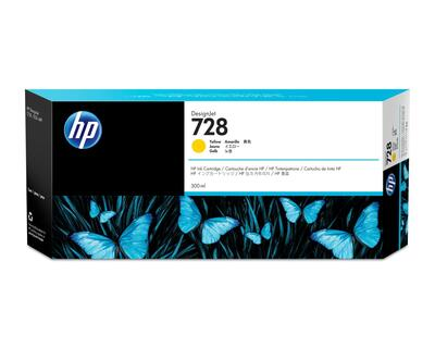 HP - HP 728 F9K15A Sarı Orjinal Kartuş - DesignJet T730 / T830 300ml