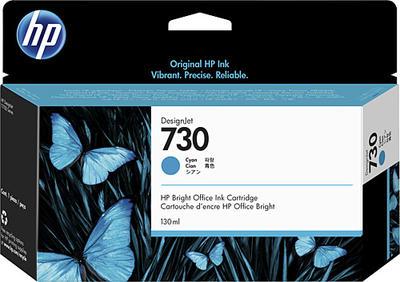 HP - HP 730 P2V62A Mavi Orjinal Kartuş (130 Ml.) DesignJet T1600, T1700, T2600