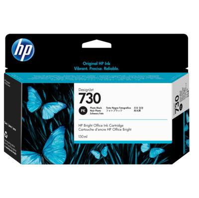 HP - HP 730 P2V67A Foto Siyah Orjinal Kartuş (130 Ml.) DesignJet T1600, T1700, T2600
