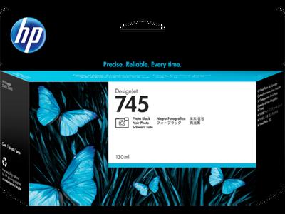 HP - HP 745 F9J98A Foto Siyah Orjinal Kartuş DesignJet Z2600/Z5600