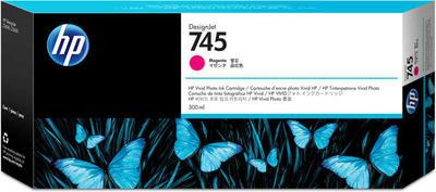 HP - HP 745 F9K01A Kırmızı Orjinal Kartuş 300 ml. DesignJet Z2600 / Z5600