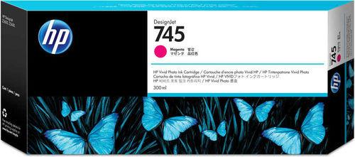 HP 745 F9K01A Kırmızı Orjinal Kartuş 300 ml. DesignJet Z2600 / Z5600