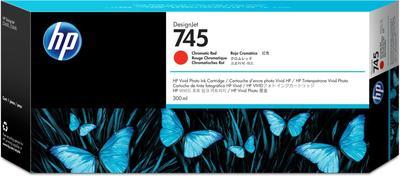 HP - HP 745 F9K06A Kromatik Kırmızı Orjinal Kartuş 300 ml. DesignJet Z2600 / Z5600