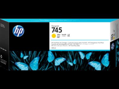 HP - HP 745 F9K02A Sarı Orjinal Kartuş 300 ml. DesignJet Z2600 / Z5600