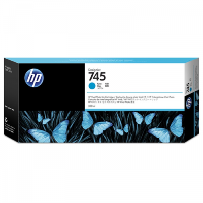 HP - HP 745 F9K03A Mavi Orjinal Kartuş 300 ml. DesignJet Z2600 / Z5600