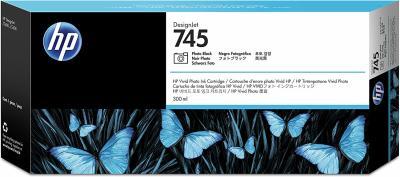 HP - HP 745 F9K04A Foto Siyah Orjinal Kartuş 300 ml. DesignJet Z2600 / Z5600