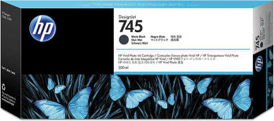 HP - HP 745 F9K05A Mat Siyah Orjinal Kartuş - DesignJet Z2600 / Z5600