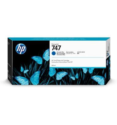 HP - HP 747 P2V85A Kromatik Mavi Orjinal Kartuş 300 ml. Designjet Z9 / W3Z71A / W3Z72A / X9D24A