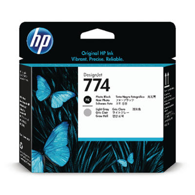 HP - HP 774 P2W00A Foto Siyah-Açık Gri Baskı Kafası DesignJet Z6810, Z6610