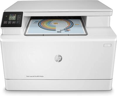 HP - Hp 7KW54A Color LaserJet Pro MFP M182N + Tarayıcı + Fotokopi + Network + Renkli Yazıcı