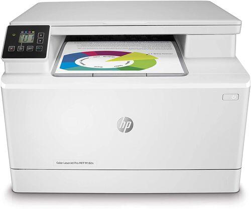 Hp 7KW54A Color LaserJet Pro MFP M182N + Tarayıcı + Fotokopi + Network + Renkli Yazıcı
