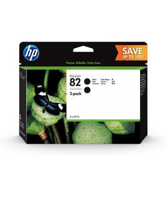 HP - HP 82 P2V34A 2'li Paket Siyah Orjinal Kartuş