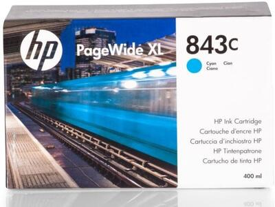 HP - HP 843C C1Q66A Mavi Orjinal Kartuş PageWide XL 4000 Serisi