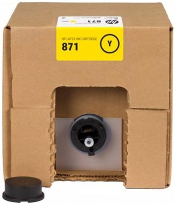 HP - HP 871C G0Y81C Orjinal Sarı Lateks Kartuş 3L