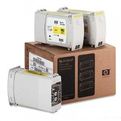HP - HP 90 C5085A SARI ORJİNAL KARTUŞ 3lü Paket 4000 / 4500 / 4520