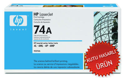 HP - HP 92274A (74A) SİYAH ORJİNAL LAZER TONER (C)