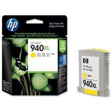 HP - HP 940XL C4909A SARI ORJİNAL KARTUŞ - PRO 8000 / 8500