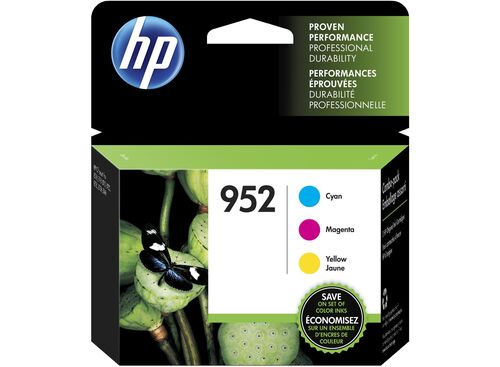 HP 952 Mavi / Kırmızı / Sarı Orjinal Kartuş 3'lü Paket N9K27AN - OfficeJet Pro 7720 / 7740