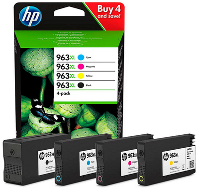 HP - HP 963XL 3YP35AE CMYK 4lü Set Kartuş OfficeJet Pro 8012, 8014, 8015, 8022, 8024, 8025