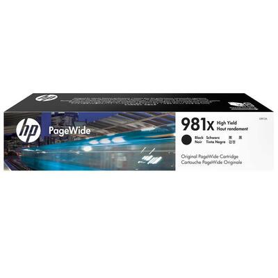 HP - HP 981X L0R12A Siyah Orjinal Kartuş Yüksek Kapasite - PageWide 556dn / MFP 586z / MFP 586dn