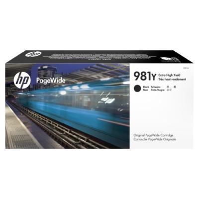 HP - HP 981Y L0R16A SİYAH ORJİNAL KARTUŞ-PageWide Color 556 / 586