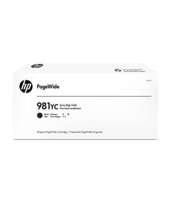 HP - HP 981YC L0R20YC Siyah Orjinal Kartuş Ekstra Yüksek Kapasite - PageWide 556dn / MFP 586z / MFP 586dn