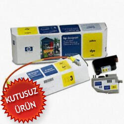 HP - Hp C1809A Orjinal Sarı Kartuş Mürekkep Sistemi - DesignJet 2000 / 2500 (U)