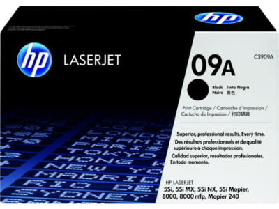 HP - HP C3909A (09A) SİYAH ORJİNAL TONER Laserjet 8000