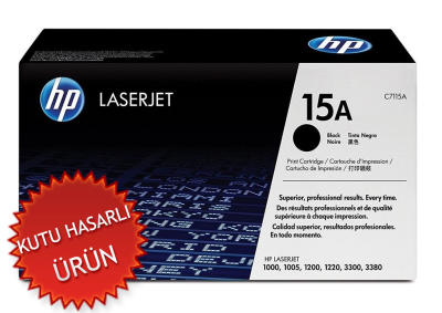 HP - HP C7115A (15A) SİYAH ORJİNAL LAZER TONER (C)