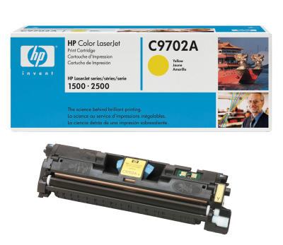 HP - HP C9702A (121A) SARI ORJİNAL TONER - HP 1500 2500 YAZICI TONERİ (B)